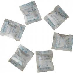 china Natural Desiccant white silica gel in paper 1g for food MSDS manufacturer