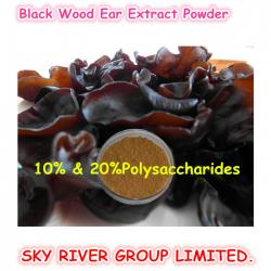 china Nutritional Supplements Black Wood Ear Extract Powder 10% & 20% Polysaccharides Natural Raw Material manufacturer