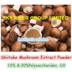 china Shiitake Mushroom Extract Powder Lentinula Edodes with Abundant Resource manufacturer