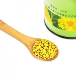 Extrato do pólen de abelha orgânica Amostra Pó amarelo dourado Cor Natural gratuito